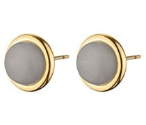 Ohrstecker ICONS FINA SG Messing teilvergoldet Opal grau Rundschliff 1.5 cm - 343659