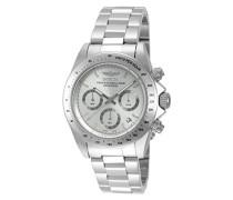 Chronograph Quarz Uhr mit Edelstahl Armband 14381