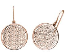 Blume des Lebens Ohrhänger für rosévergoldetes 925er-Sterlingsilber Größe 21 mm