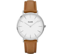 Damen Armbanduhr Analog Quarz Leder CL18211