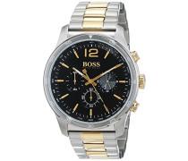 Chronograph Quarz Uhr mit Edelstahl Armband 1513529