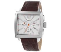 Herren-Armbanduhr Chronograph Leder EL101031F03