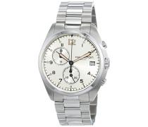 Armbanduhr XL Chronograph Quarz Leder H76512155