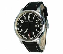 Armbanduhr XL Analog Automatik Leder 16053.2537