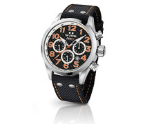Chronograph Quarz Uhr mit Stoff Armband TW966