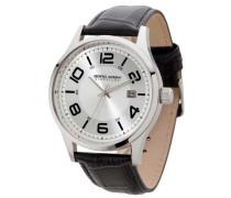 Herren-Armbanduhr XL Analog Quarz Leder JGS2570