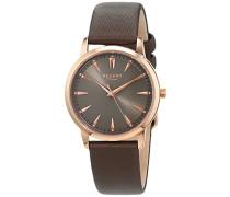 Damen Analog Quarz Uhr mit Leder Armband 12100602
