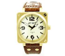 Damen-Armbanduhr Analog Quarz Leder J17907-756