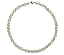 Pearls Collier 925 Sterling Silber rhodiniert Süßwasserzuchtperle weiß 45 cm 380250020-1