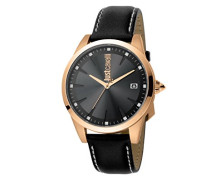 Analog Quarz Uhr mit Leder Armband JC1G037L0035