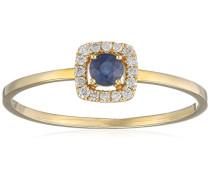 Ring 9 Karat (375) Gelbgold Saphir badm 07022-0001