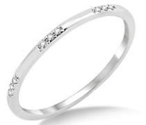 Ring Memoire 375 Weißgold mit Brillanten 0