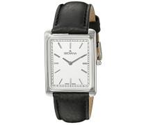 GROVANA 1040.1532 Men'schweizer Uhr Armbanduhr Analog Leder schwarz