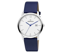 Damen-Armbanduhr Longline Analog Quarz Leder