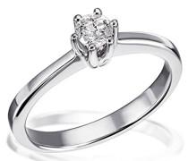 Ring Diamant Solitär 6er-Stotzen 585 Bicolor Gold 1 Brillant 0