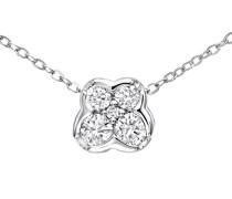 Halskette 9 Karat 375 Weißgold Diamant 0