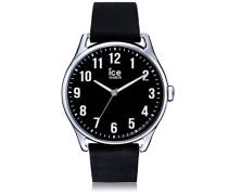- ICE time Black - Schwarze Herrenuhr mit Lederarmband - 013043 (Large)