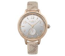 Datum klassisch Quarz Uhr mit PU Armband LP582