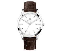 230 C104 – Elegance Classic – Armbanduhr – Quarz Analog – Weißes Ziffernblatt – Armband Leder braun