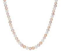 Collier Kette 925 Silber rhodiniert Perle Süßwasser-Zuchtperle 45 cm - 609210161