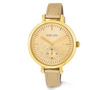 Armbanduhr längenverstellbar mit Kunstlederarmband und praktischer Dornschließe, 2013113