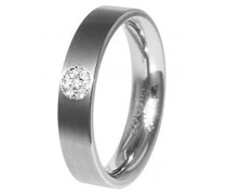 Ring Titanium Titan Diamant (0.035 ct) transparent Brillantschliff
