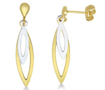 Damen-Ohrshänger 375 Weiß-/Gelbgold MA926E