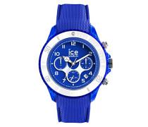 ICE dune Admiral blue - Blaue Herrenuhr mit Silikonarmband - Chrono - 014218 (Large)