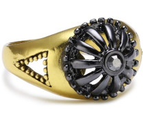 Jewelry Ring aus der Serie Grid vergoldet + metallmix grau Size 55 2.1 cm 151238104