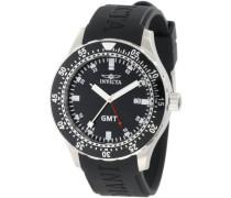 11255 Specialty Uhr Edelstahl Quarz schwarzen Zifferblat