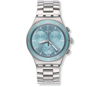 Chronograph Quarz Uhr mit Edelstahl Armband YCS589G