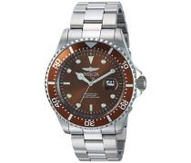 22049 Pro Diver Uhr Edelstahl Quarz braunen Zifferblat