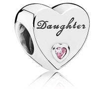 Bead Daughter-Herz 925 Silber Zirkonia rosa - 791726PCZ