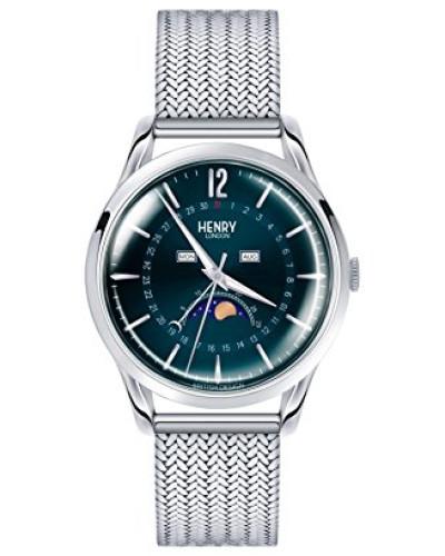 Mondphase Quarz Uhr mit Edelstahl Armband HL39-LM-0085
