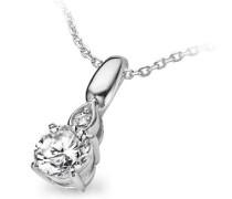 Halskette 925 Sterling Silber Zirkonia Silber