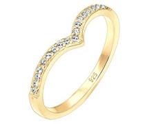 Ring Geo 925 Sterling Silber vergoldet Swarovski Kristalle 0610362416