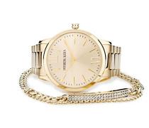 Analog Quarz Uhr mit Edelstahl Armband TF 10478