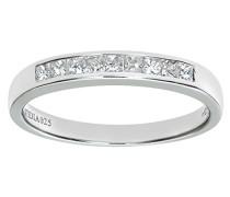 Damen-Ring 9 K Weißgold P1 Diamant