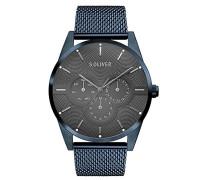Erwachsene Analog Quarz Smart Watch Armbanduhr mit Edelstahl Armband SO-3573-MM