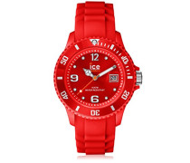 ICE forever Red - Rote Herrenuhr mit Silikonarmband - 000129 (Small)
