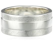 Herren-Ring 925 Sterling Silber mattiert silber