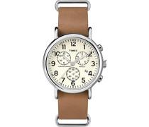 Analog Quarz Uhr mit Leder Armband TWC063500