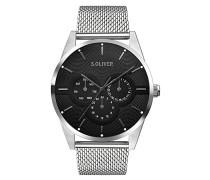 Erwachsene Analog Quarz Smart Watch Armbanduhr mit Edelstahl Armband SO-3574-MM