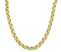 Halskette 9 Kt Gelbgold Belcher Dicke von 18 Zoll/46 cm lang, 0