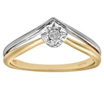 Damen-Ring 9 Karat (375) Weißgold
