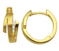Creolen 9 Karat (375) matt/glänzend Gelbgold 6 Brillanten 0.06ct MM9027E