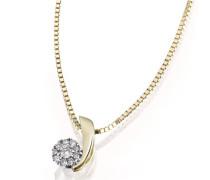 Halskette Glamour 585 Gelbgold 10 Diamanten 0