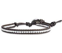 Armband Leather Collection Leder dunkelbraun silberfarben 60831051