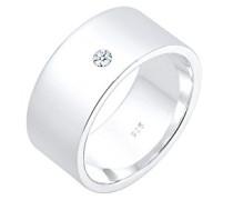 PREMIUM Bandring Basic 925 Sterling Silber Diamant 0.03 ct. 0601640218_56