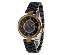 Armbanduhr - Analog Quarz - Premium Keramik Armband - Perlmutt Zifferblatt - Diamanten und Swarovski Elemente - STM15SM12